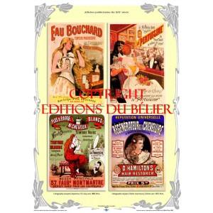Affiches Publicitaires Sur La Coiffure De La Fin Xixe Siecle